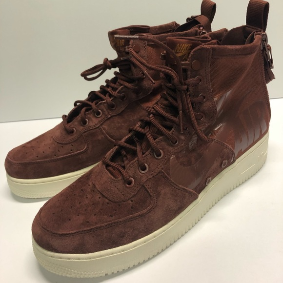 Nike SF Air Force One mid Pueblo Brown sneakers NWT